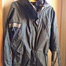 Columbia Jacket M With Hood Gray Windbreaker Raincoat Women Fire Ridge-No Lining