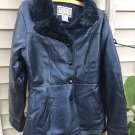 BB Dakota Jacket Petite S faux Fur Vegan Blue