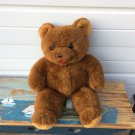 """Elka Toys Handsome tall 22"""" Vintage Brown Teddy Bear Plush Toy NY"""