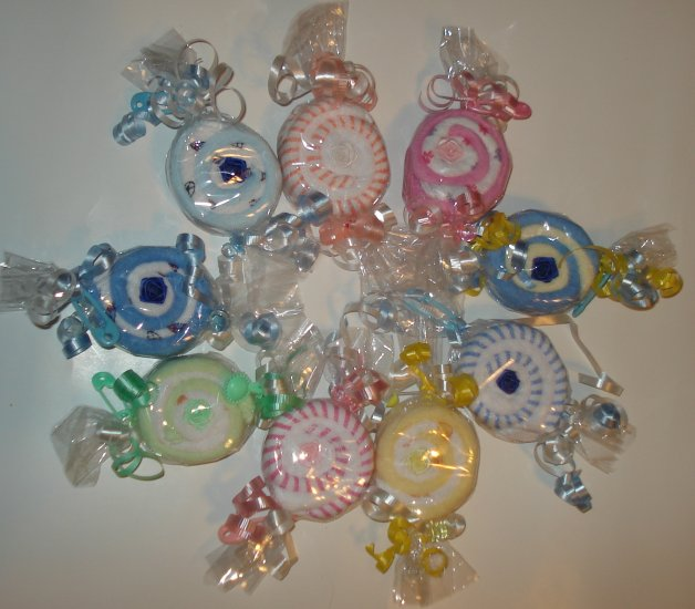 Washcloth Candy Baby Shower Favor Gift