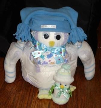 Penguin and Baby Diaper Animal Baby Shower Favor Gift