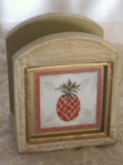 Pineapple Napkin Holder Tropical Kitchen Decor