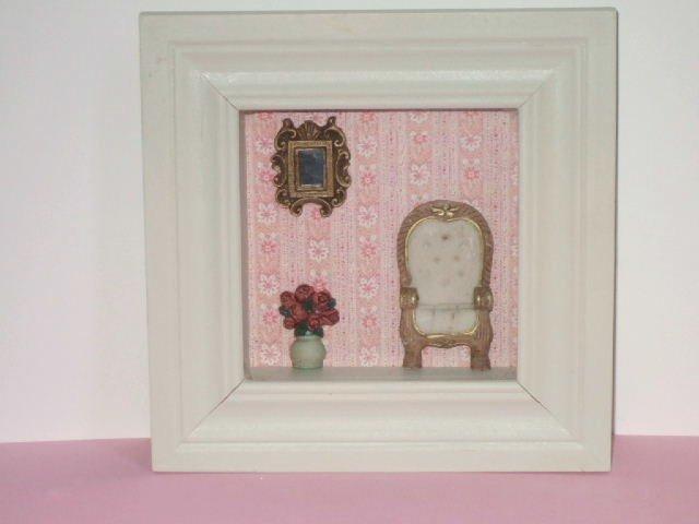 Shabby Doll House Furniture Shadowbox Wall Decor