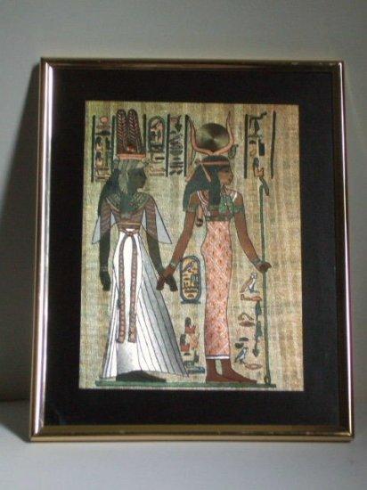Egyptian Foil Print Framed Wall Decor