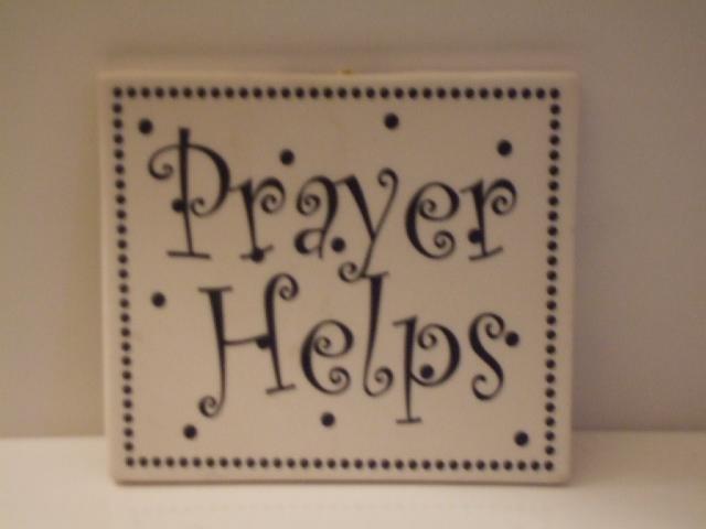 Prayer Helps Tile Wall Decor Plaque