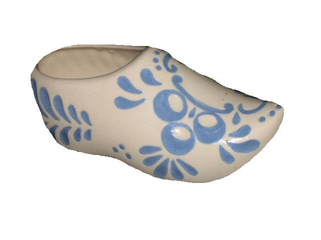 Bisque Dutch clog figurine ceramic shoe