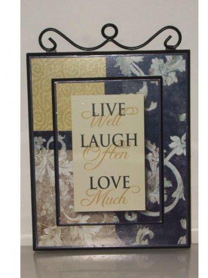 Live Laugh Love Wall Plaque Inspirational Art