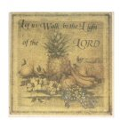 Tropical Pineapple Grapes Apples Tile Trivet Bible Verse