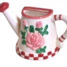 Pink Roses Teapot Shaped Photo Frame