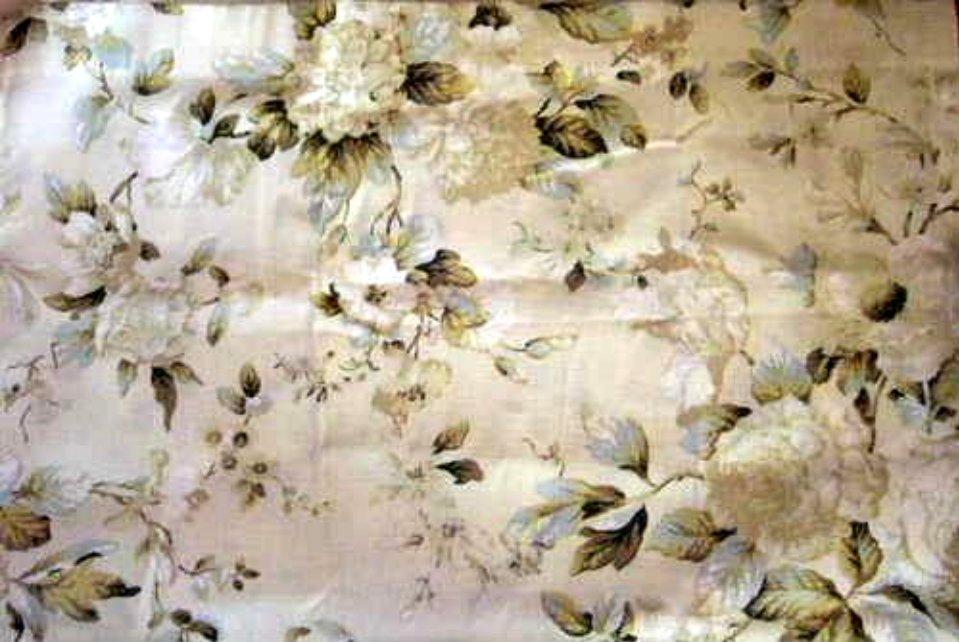 Floral Curtains Balmoral Mint Tiers Set