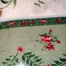 Floral Tiers and Swag Pink and Sage Curtains Set