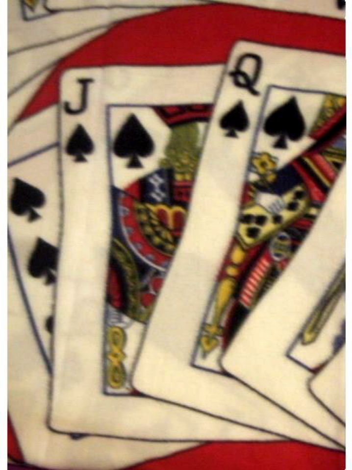 Casino Poker Cards Fleece Throw Blanket