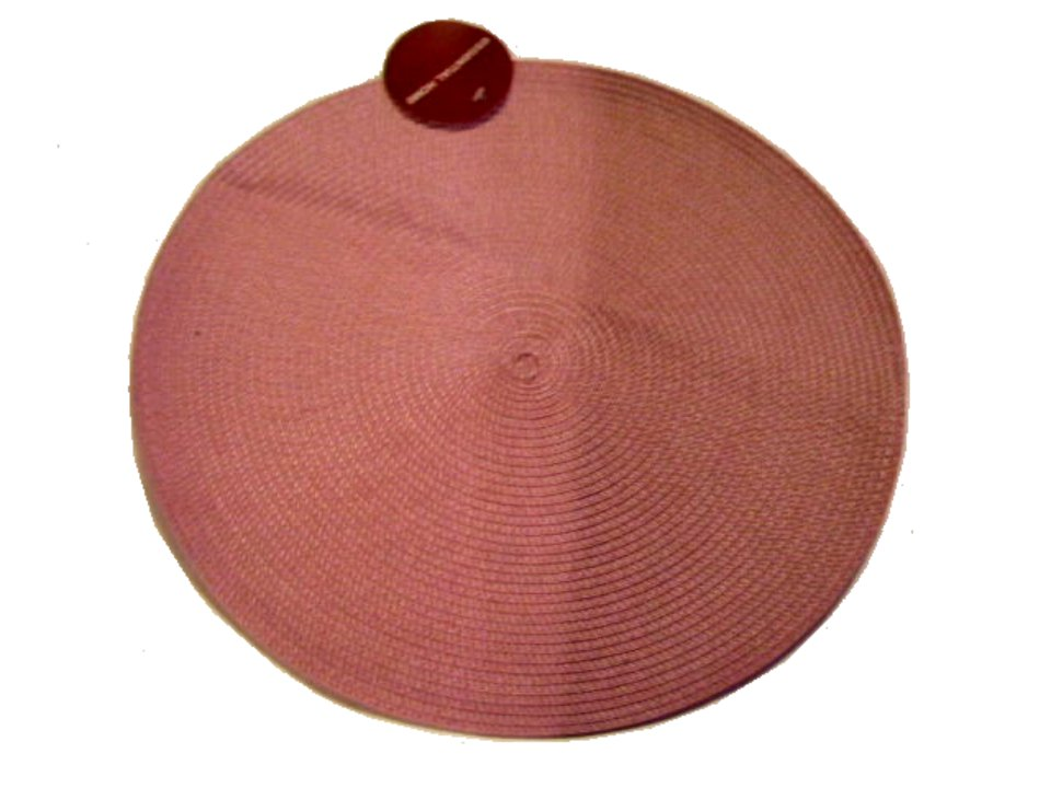 Round Shabby Pink Placemats Cottage Kitchen Decor