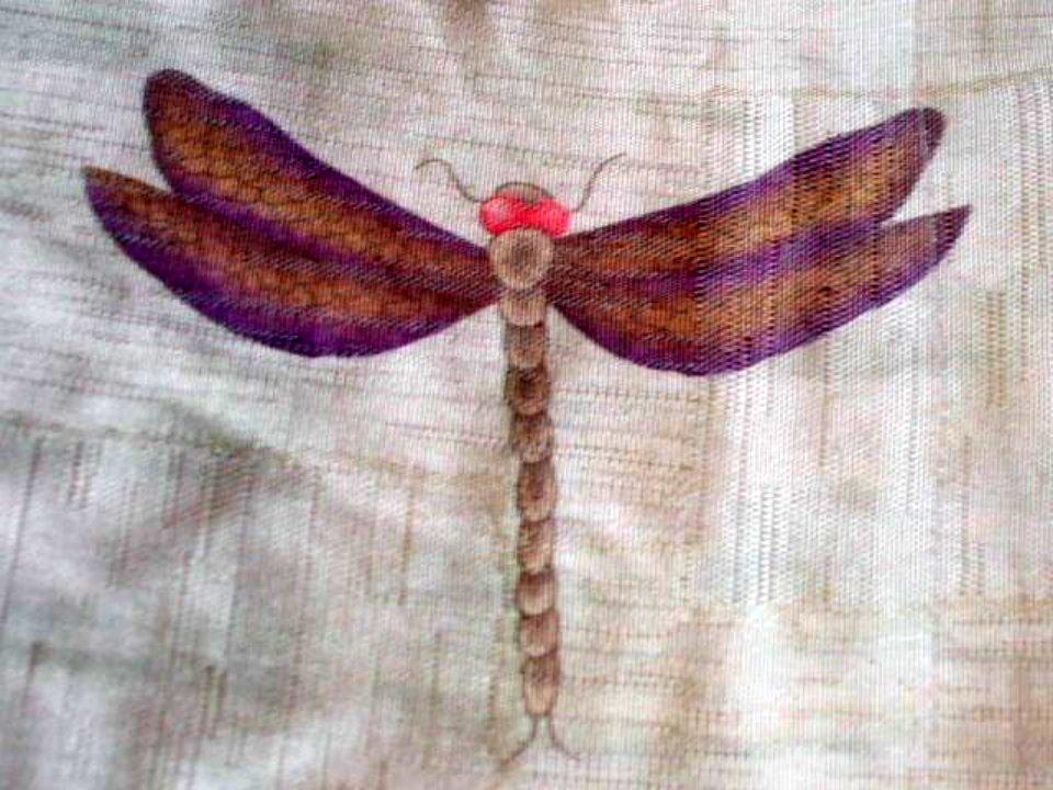 Dragonflies Butterflies Nature Fabric Shower Curtain