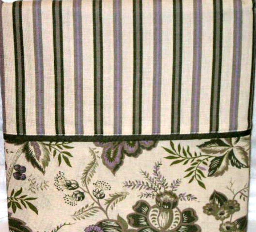 Floral Stripe Fabric Shower Curtain Martha Stewart Lavender Fields