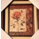 Rose Wall Decor Floral Art Framed Picture