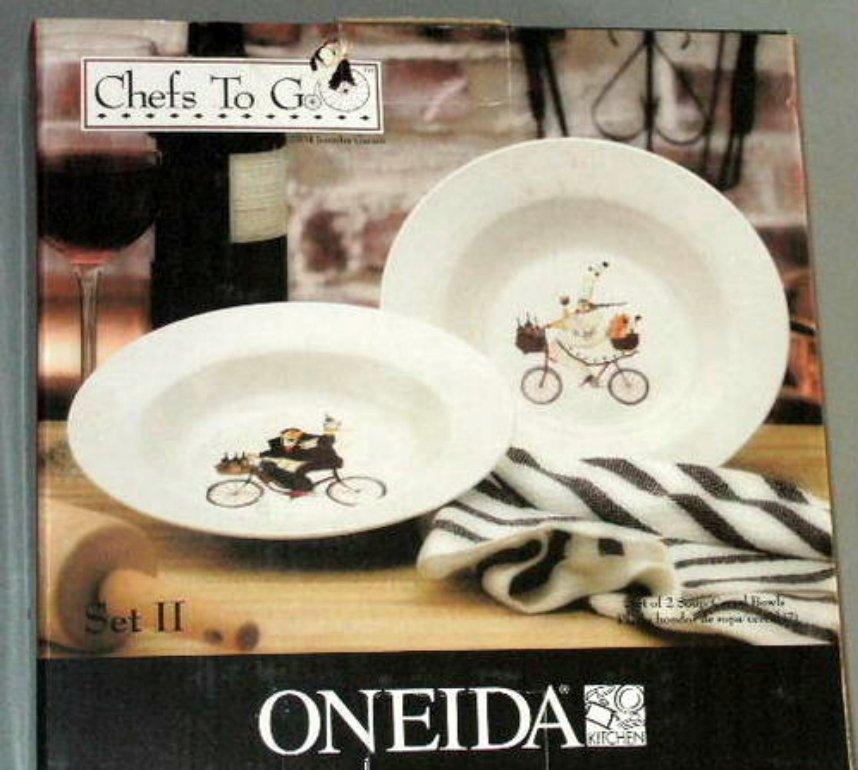 Fat Chef Soup Bowls Chefs to Go Garant Oneida Set 2