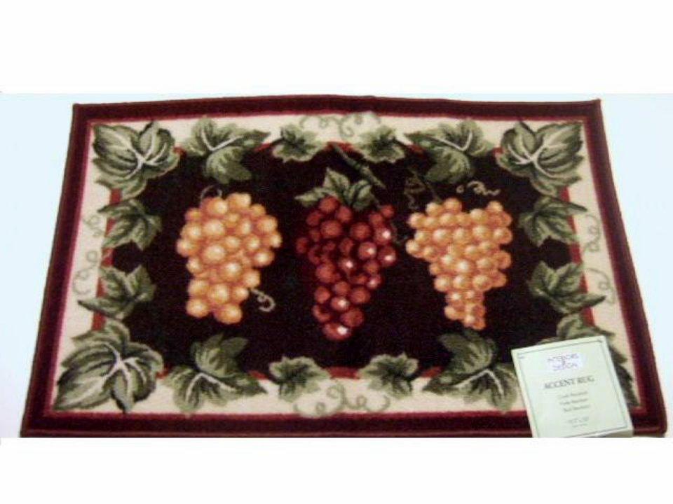 clusters of grapes grape themed kitchen rug. Black Bedroom Furniture Sets. Home Design Ideas