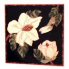 Magnolia Tile Coasters Set of 4 Floral Kitchen Decor