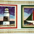 Nautical Beach Lighthouses Sailboats Wallpaper Wall Border