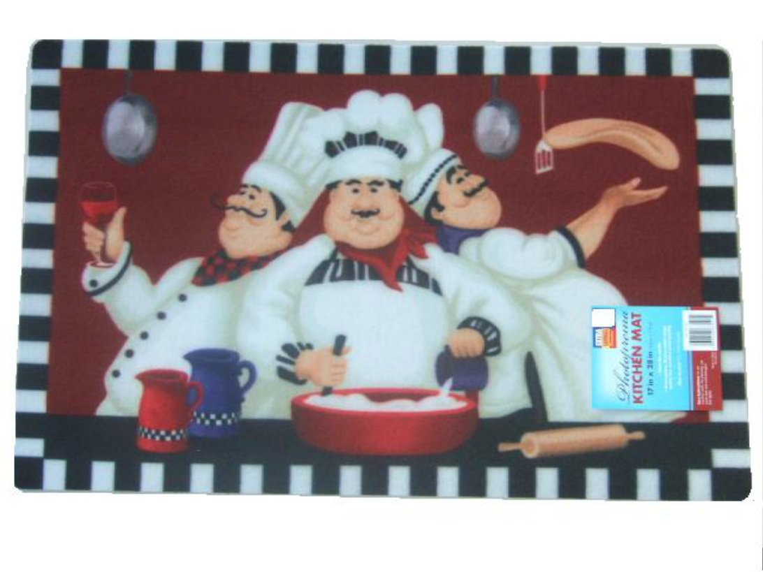 Italian Fat Chefs Kitchen Rug
