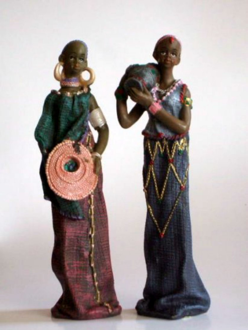 African Lady Figurines