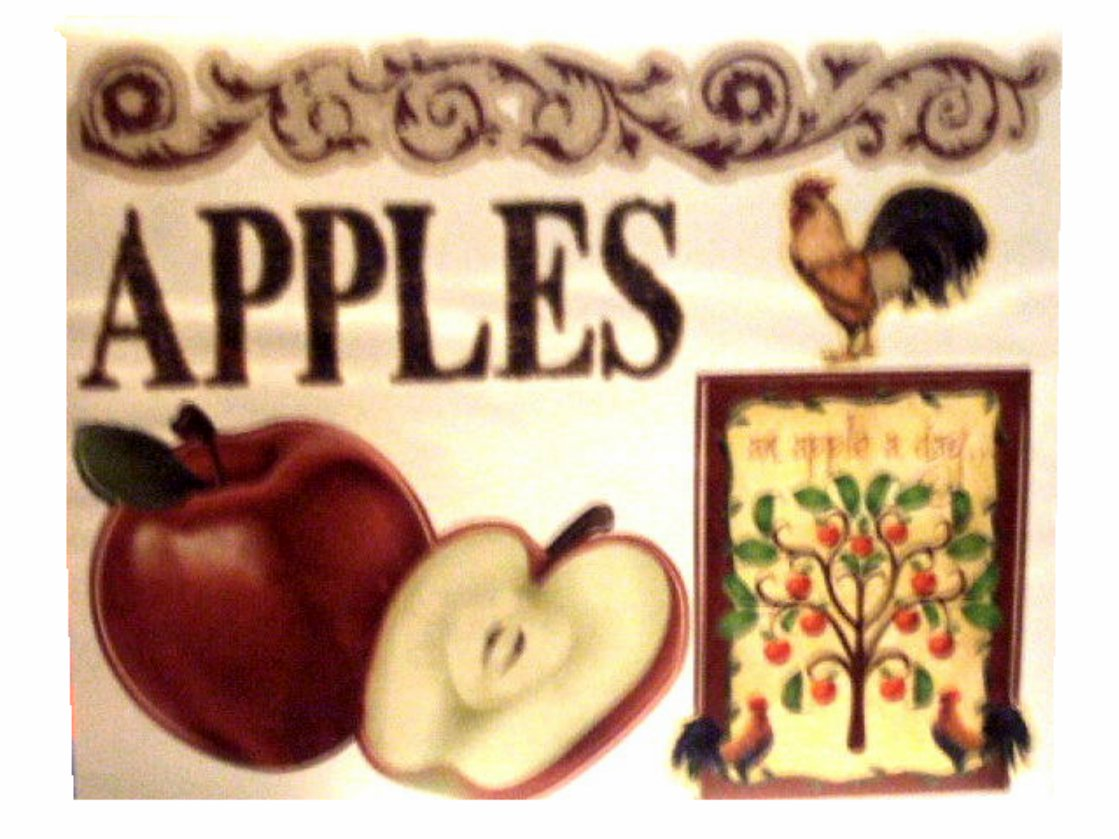 Apples Roosters Wall Decals Country Kitchen Decor