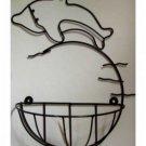 Dolphin Metal Wall Basket Beach Decor