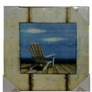 Nautical Beach Wall Picture Weathered Lounge Chair Beach Decor