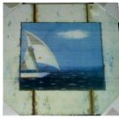 Sailboat Wall Picture Rustic Beach Decor