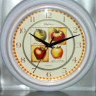 Apples Kitchen Clock Apple Varieties White