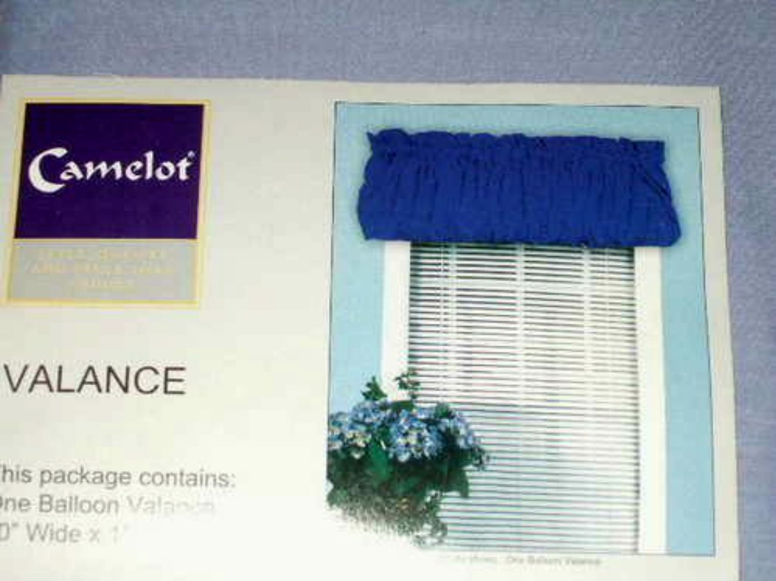 Camelot Lavender  Balloon Valance Curtain