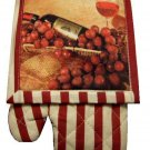Wine Grapes Oven Mitt Pot Holder Kitchen Linen Set
