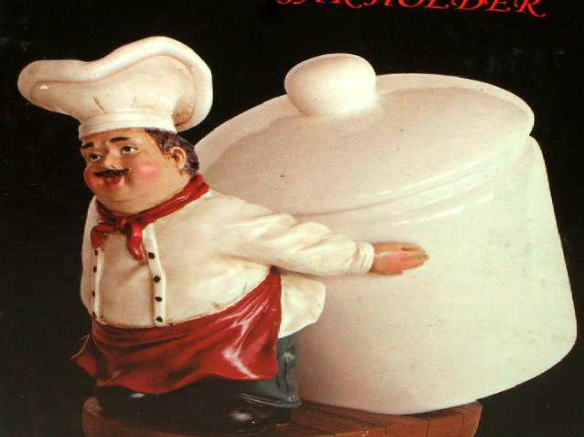 Ceramic Chef Kitchen Decor