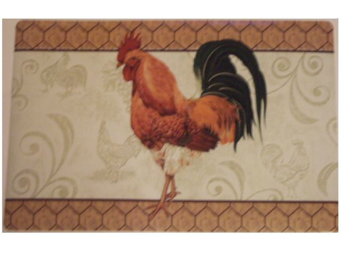 French Country Rooster Placemats Set