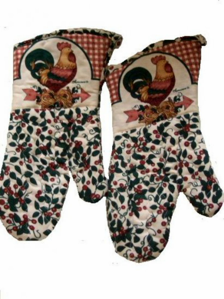 Rooster Pot Holders and Oven Mitts Roosters Kitchen Linens