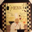 Fat Italian Chef Wood Cutting Board Plaque