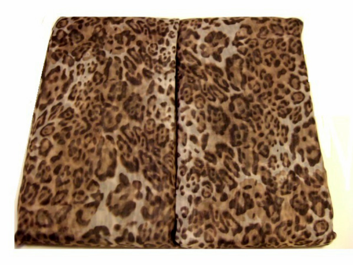 Animal Print Leopard Curtain Panels Set