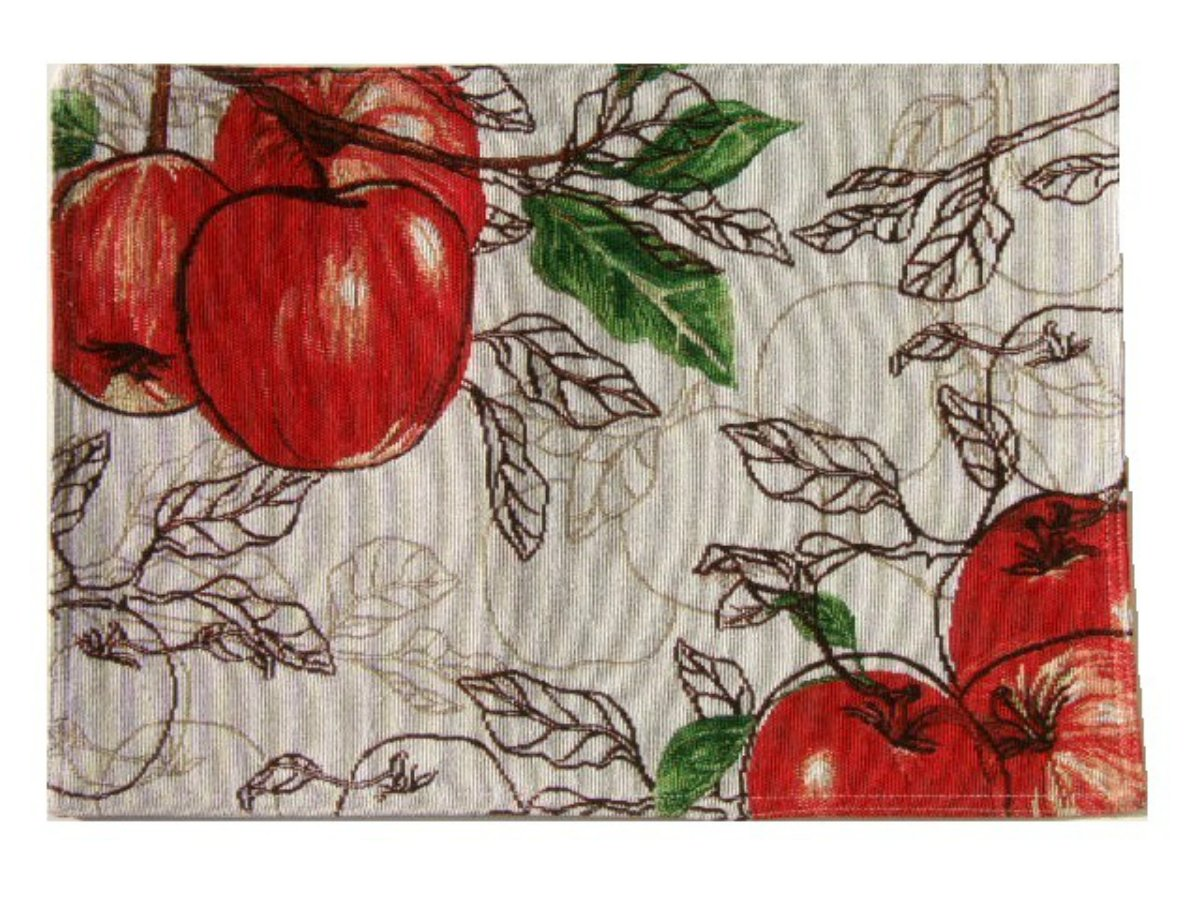 Apple Themed Placemats Red Apples Kitchen Linens