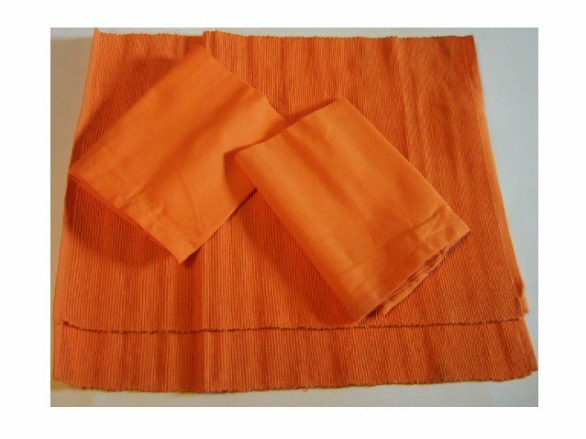 Retro Orange Placemats Napkins Set