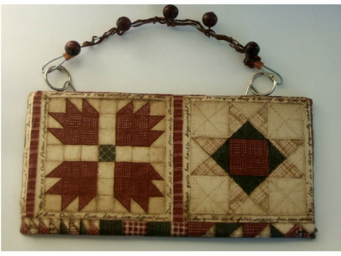 Country Quilting Square Slate Plaque Primitive Wall Decor