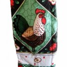 Rooster Apples Fabric Bibbed Apron