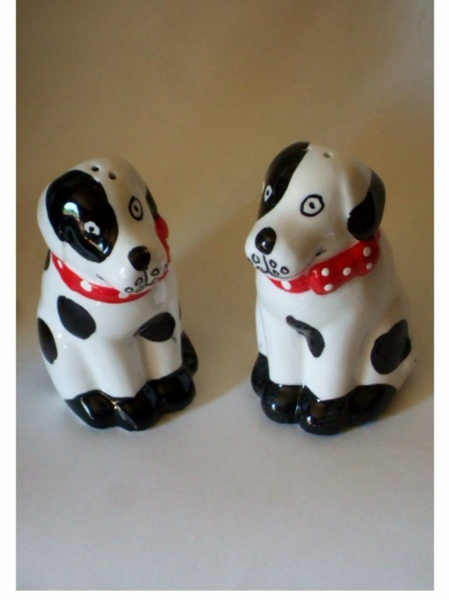 Dalmation Puppy Salt Pepper Shakers Set