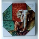 Elephants Canvas Wall Art Jungle Decor