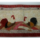 Rooster Patchwork Fabric Placemats Set