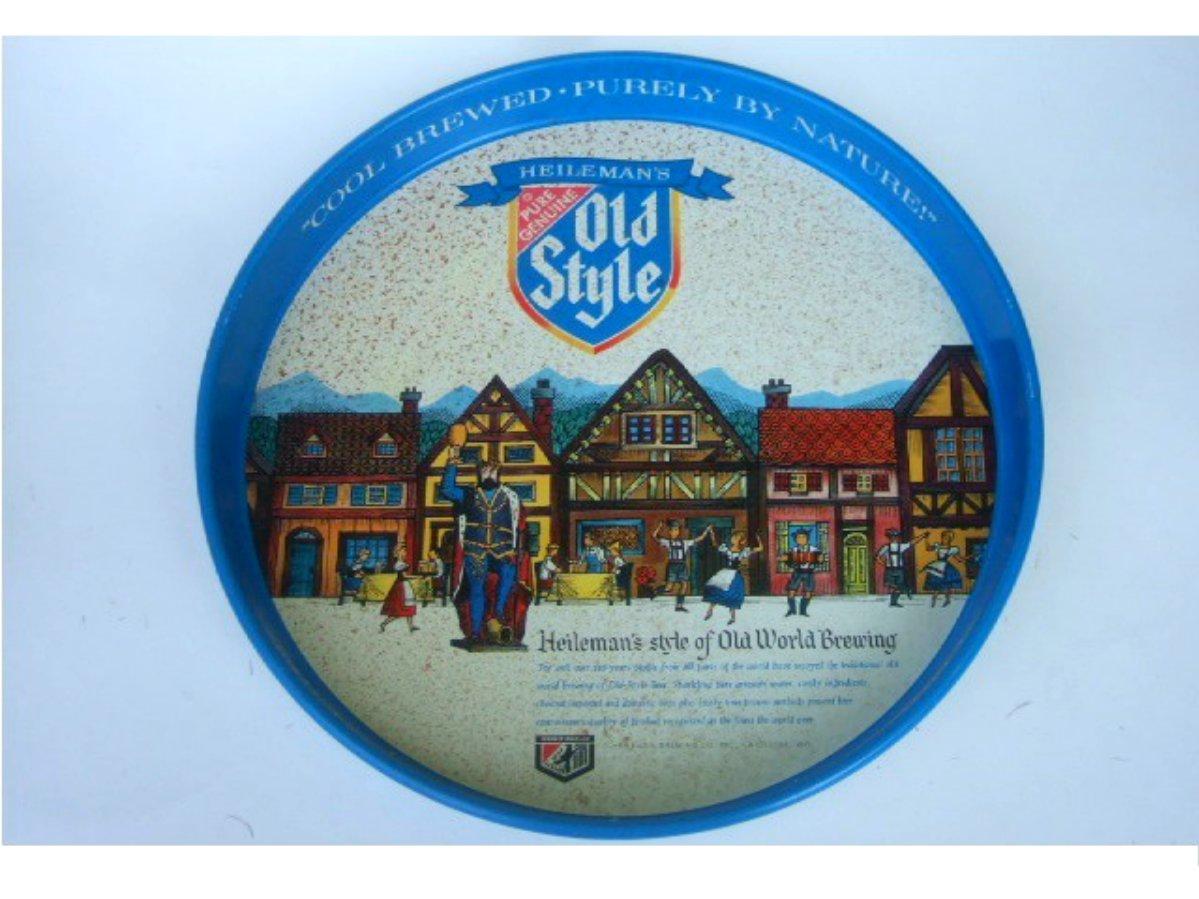 Vintage Heileman's Old Style Beer Metal Serving Tray