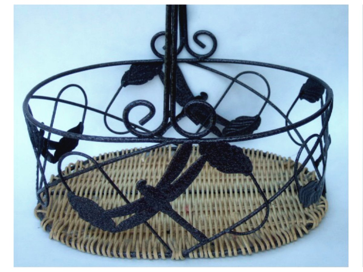 Dragonfly Metal Basket with Handle