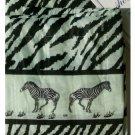 Zebra Stripe Fabric Shower Curtain Zebras