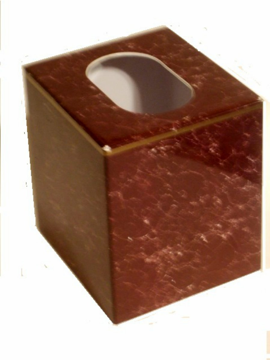 Marble Look Burgundy Tissue Box Cover
