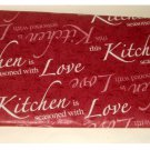 Inspirational Red Vinyl Tablecloth This Kitchen Seasoned with Love